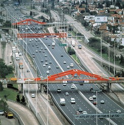 Stretch of the Pan-American Highway in Argentina