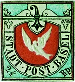 The Basel Dove stamp.