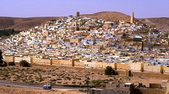 Beni Isguen, a holy city surrounded by thick walls in the Algerian Sahara
