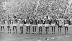 The Dutch team before their 1–2 loss against West Germany in the final of the 1974 World Cup