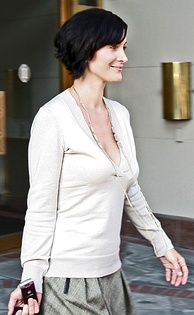 Actress Carrie-Anne Moss, from movies such as The Matrix trilogy and Memento