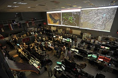 USAFCENT CAOC at Al Udeid Air Base, Qatar provides command and control of air power throughout Iraq and Syria.