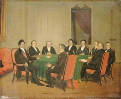 The Council of Ministers presided over by Louis-Philippe on 3 August 1838, by Henri Scheffer