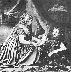 Act 1 at the Bayreuth premiere, August 1876: Sieglinde and Siegmund