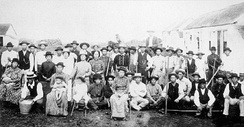 Early Japanese immigrants to Hawaii.