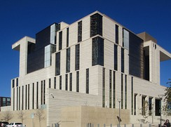 The 8-story U.S. Courthouse is located at Fourth, Fifth, San Antonio, and Nueces streets (opened December 2012).[262]