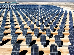 Nellis Solar Power Plant in Nevada, United States