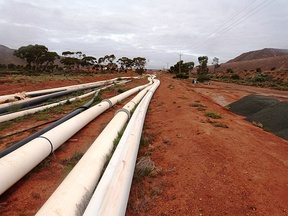 HDPE pipelines on a mine site in Australia.