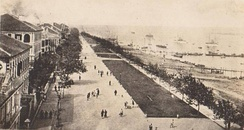 Foreign concessions along the Hankow Bund c. 1900.
