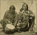 Peyotists with their ceremonial tools