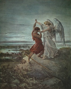 Jacob Wrestling with the Angel, by Gustave Doré in 1855