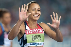 Ennis during the 2011 World Athletics Championships in Daegu