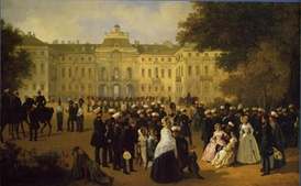 Leib Guard reception at the Konstantin Palace. A 19th-century painting.