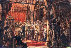 Coronation of the First King, as imagined by Jan Matejko