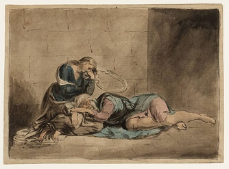 Lear and Cordelia in Prison — William Blake circa 1779