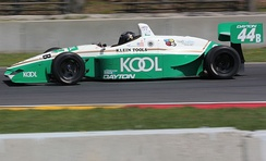 The Lola T97/20 was the specified chassis used from 1997 to 2001. It is pictured here at a vintage racing event in 2016.
