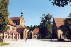 The Evangelical Seminaries of Maulbronn and Blaubeuren (picture showing church and courtyard) form a combined Gymnasium and boarding school