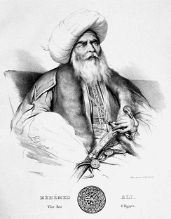 Muhammad Ali of Egypt, drawn by Louis Dupré.