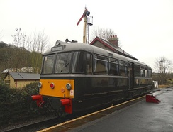 The morning Diesel Railbus service at Damems Station