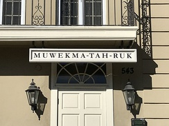 "The Muwekma-Tah-Ruk theme house at Stanford University: Muwekma-Tah-Ruk means ""house of the people"" in Ohlone"
