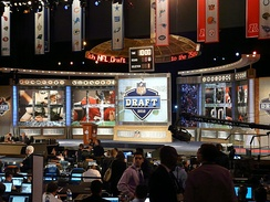 The set for the 2010 NFL Draft at Radio City Music Hall