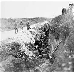 Newfoundland soldiers waiting in St. John's Road support trench