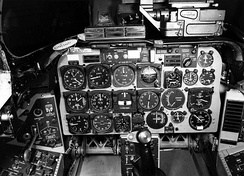The cockpit of an F-100D