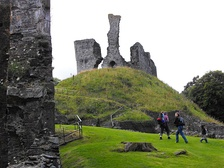 Remains of Okehampton Castle today