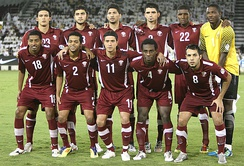 Qatar national team in 2011 during the 2014 FIFA World Cup qualifying rounds.