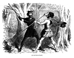 Quarterstaff fight