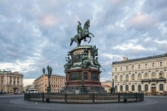 Monument to Nicholas I on St. Isaac's Square, Saint Petersburg
