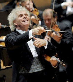 Simon Rattle conducting the Berlin Philharmonic Orchestra in 2006