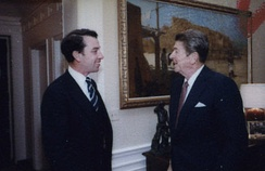 Grassley with President Ronald Reagan in 1981