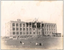 Regina College, designed by James Henry Puntin (architect), under construction on 16th Avenue (now College Avenue), 1913