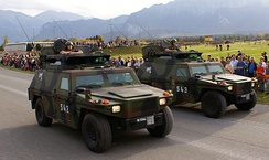 Swiss-built Mowag Eagles of the Land Forces