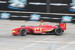 Bourdais winning the 2007 Grand Prix of Houston.