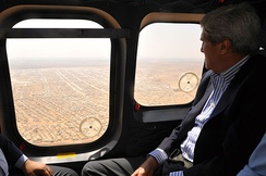 Kerry views the Mrajeeb al-Fhood camp for Syrian refugees in 2014. Syrian rebels received support from the United States.