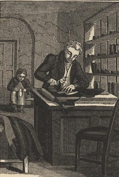 A shoemaker in the Georgian era, from The Book of English Trades, 1821.