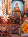 Interior of a Bhutanese temple erected for the occasion on the National Mall