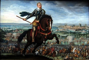 The victory of Gustavus Adolphus at the Battle of Breitenfeld (1631)