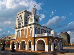 View of the Market House and Downtown Fayetteville