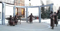Statues of The Famous Five in Calgary, Alberta
