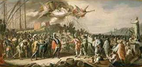 The triumph of Genoese admiral Lamba Doria in the Battle of Curzola