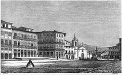 The Toural square in 1864