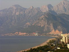Antalya on the Turkish Riviera (Turquoise Coast) received more than 11 million international tourist arrivals in 2014.