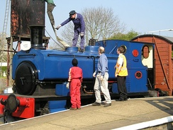 Andrew Barclay 0-4-0 'No. 11' at the Spanning the Century Event in 2005, where it celebrated its 100th birthday