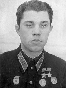 Twice Hero of the Soviet Union Major General Alexander Molodchy