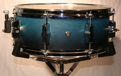 Snare drum on a modern light-duty snare drum stand