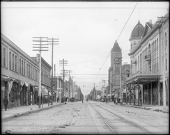 "A view of ""E"" Street and the Stewart Hotel, San Bernardino, ca.1905"