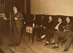 Alfonsín during his successful 1963 congressional campaign